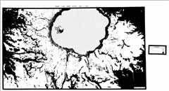 Crater Lake snow extent, July 3, 1974