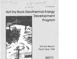 Hot Dry Rock Geothermal Energy Development Program. Annual Report, Fiscal Year 1983
