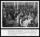 1946 Land Opening - Selecting homesteads at  Bureau of Reclamation office in Klamath Falls, Oregon