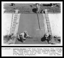 """M"" Canal Lining, Station 131, looking Northeast - Placing concrete lining with..."