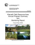 Annual program summary 2003
